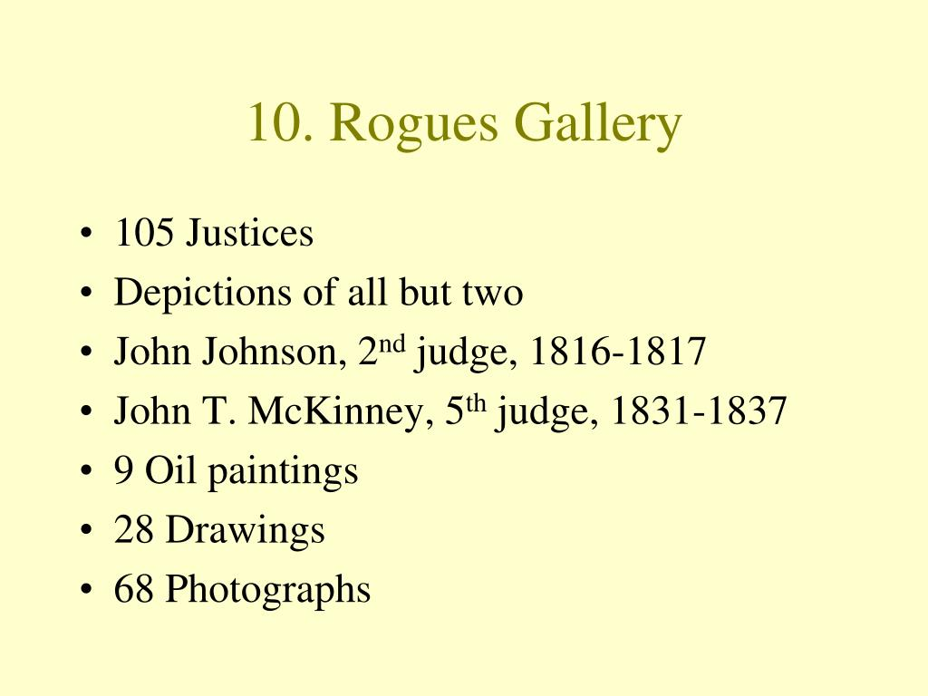 10. Rogues Gallery
