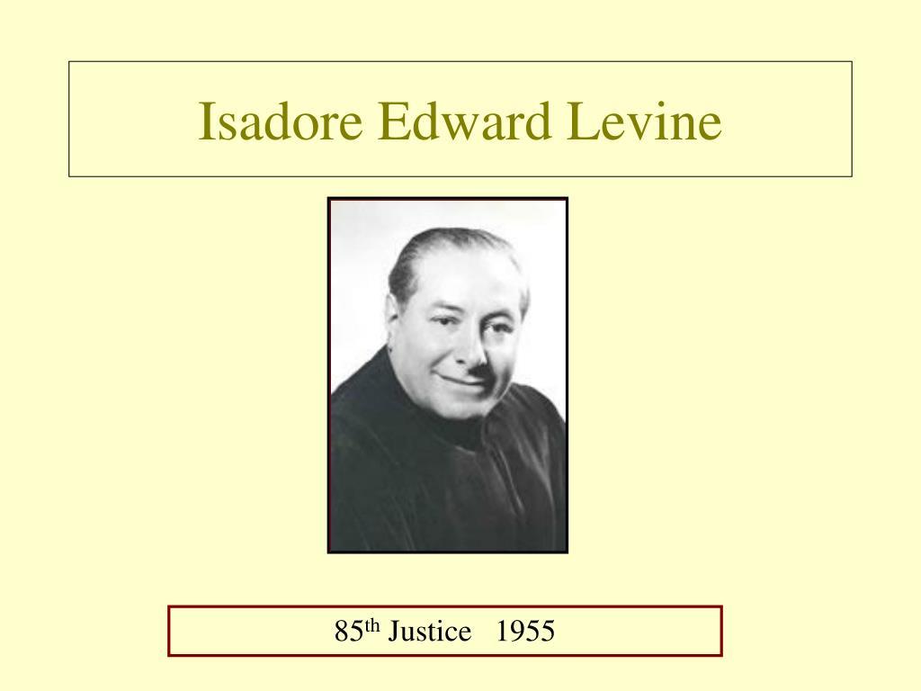 Isadore Edward Levine