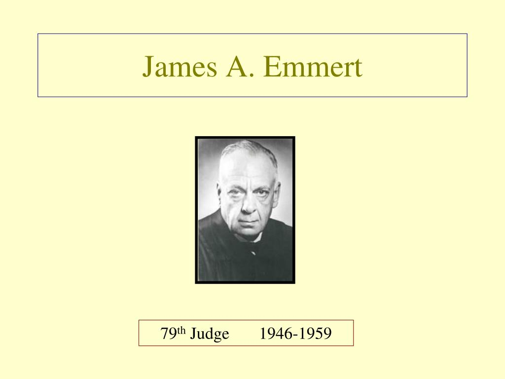James A. Emmert