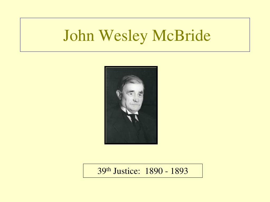 John Wesley McBride