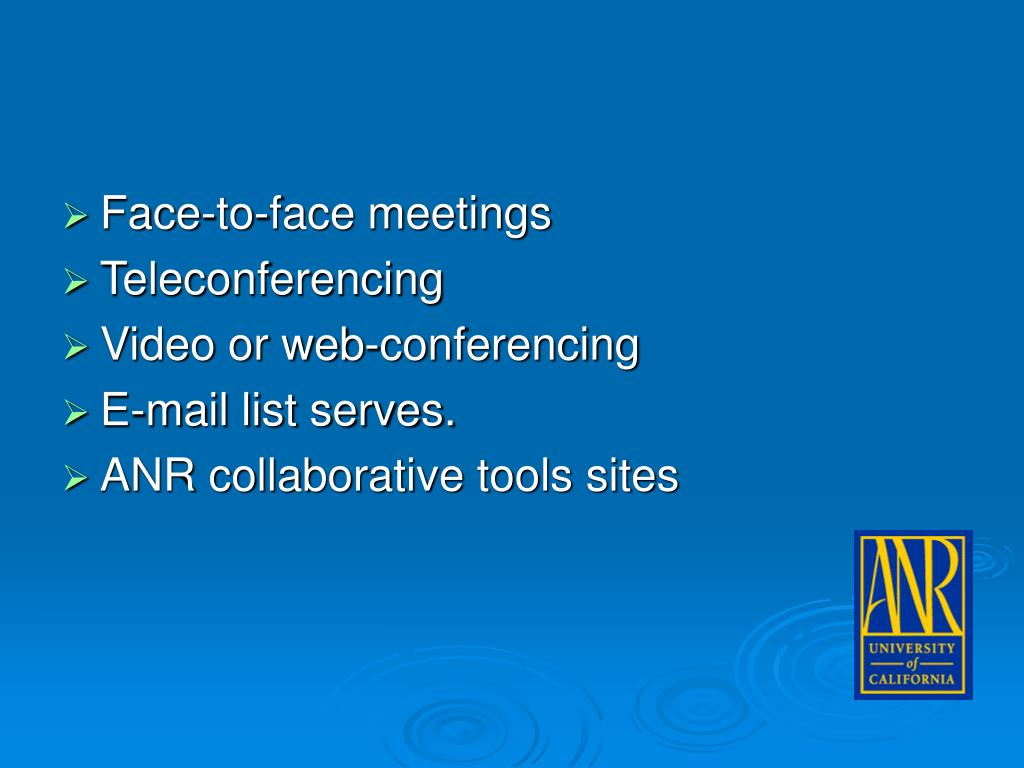 Face-to-face meetings