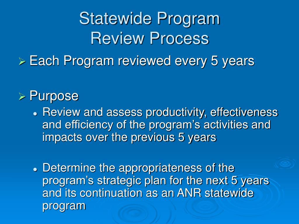Statewide Program