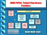 evms pspsc patient flow across providers