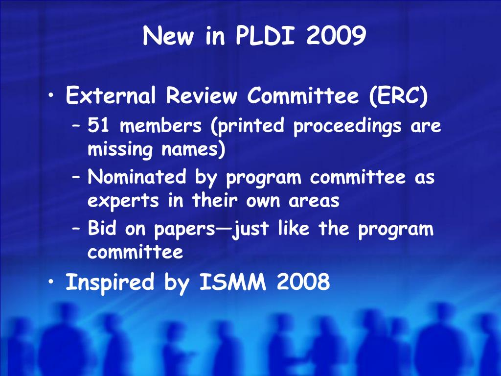 New in PLDI 2009