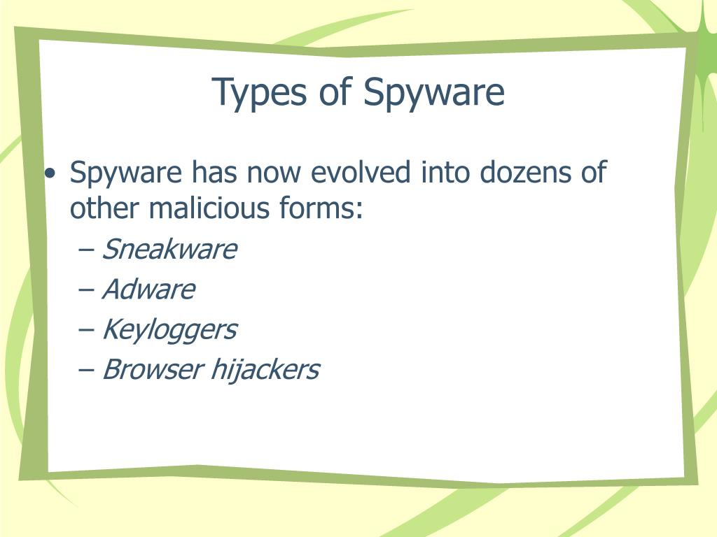 Types of Spyware
