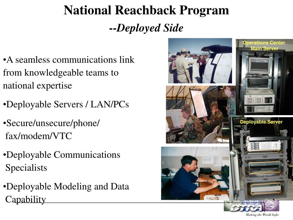 National Reachback Program