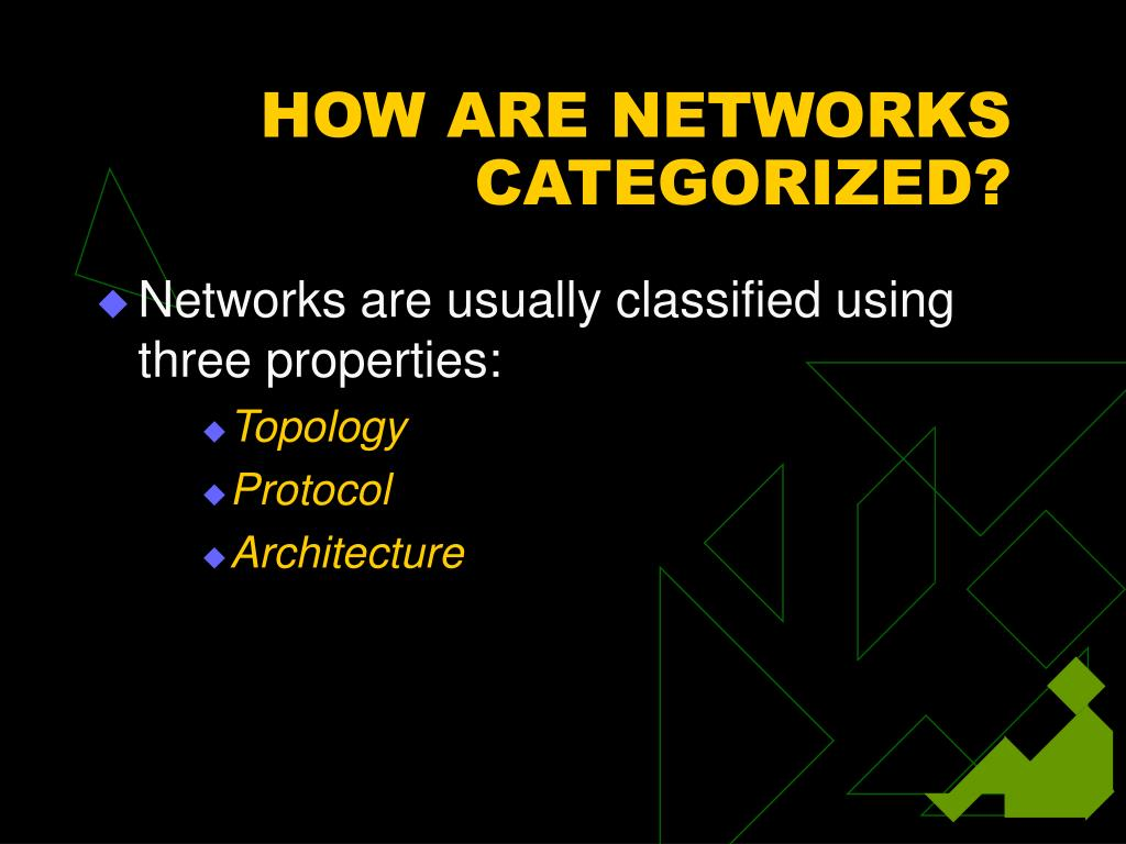 HOW ARE NETWORKS CATEGORIZED?