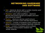 networking hardware and software