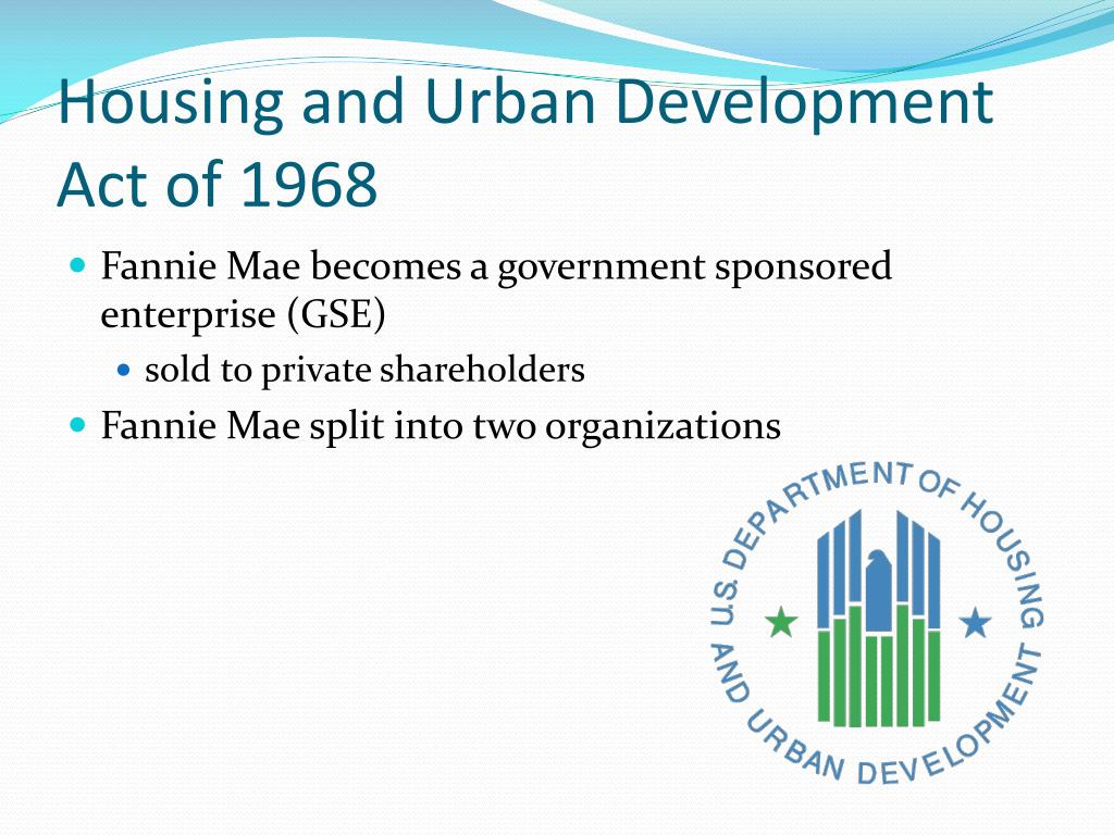 Housing and Urban Development Act of 1968