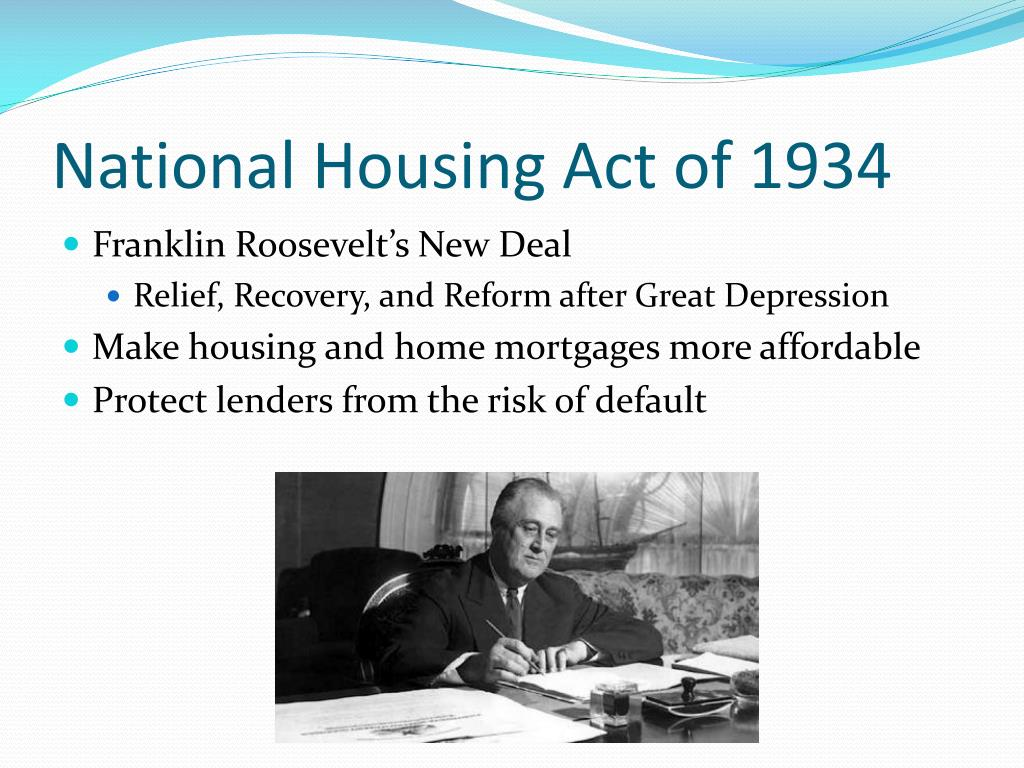 National Housing Act of 1934