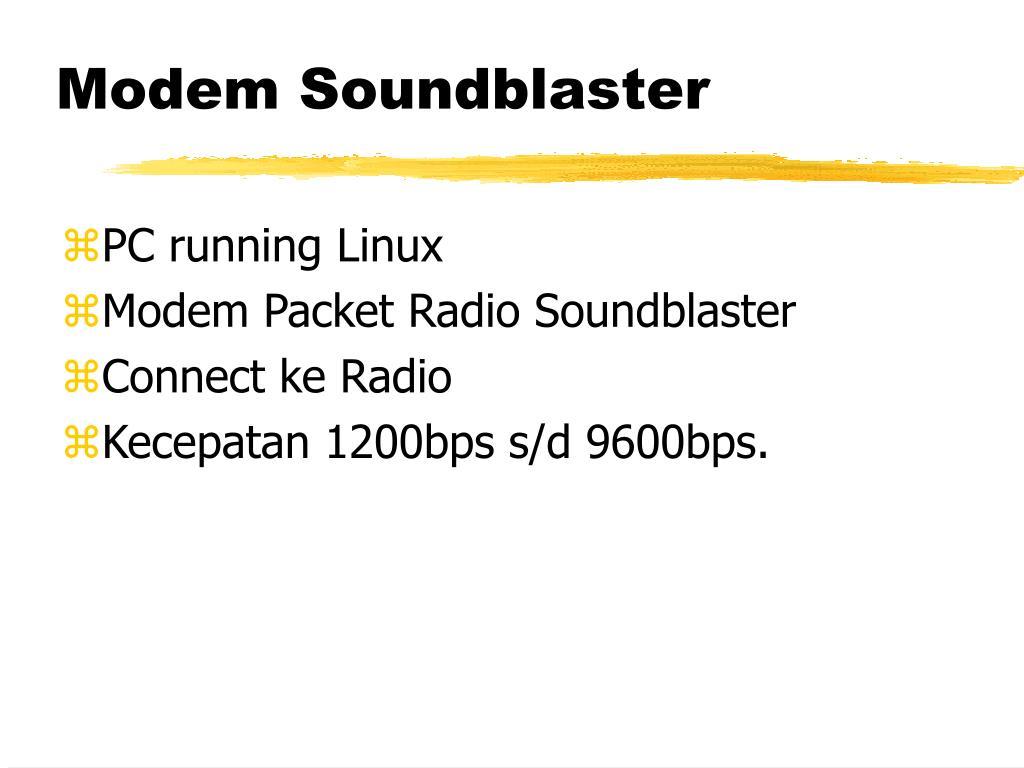 Modem Soundblaster