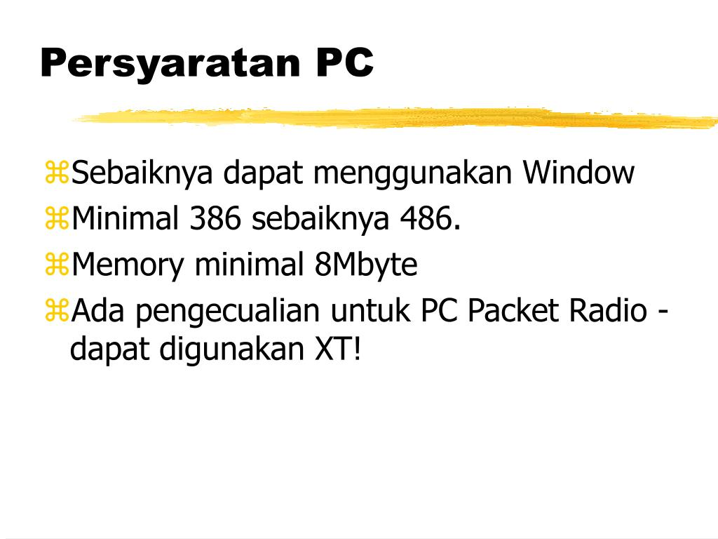 Persyaratan PC