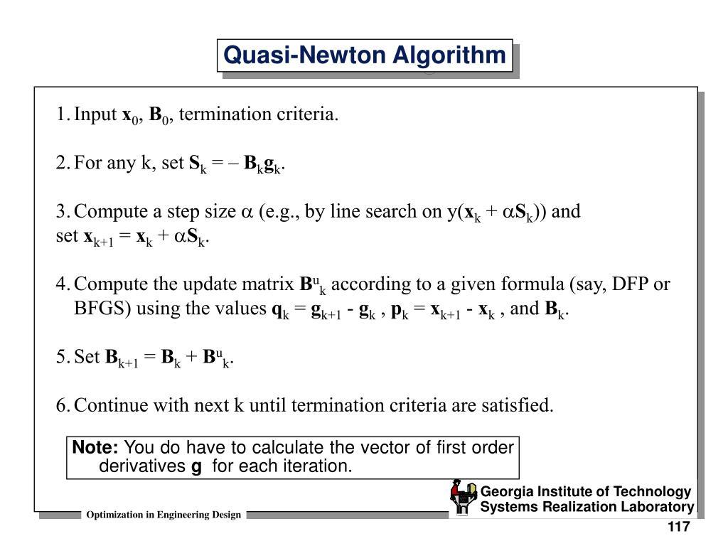 Quasi-Newton Algorithm