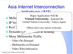 asia internet interconnection initiatives ai3102