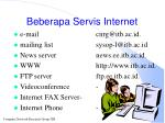 beberapa servis internet