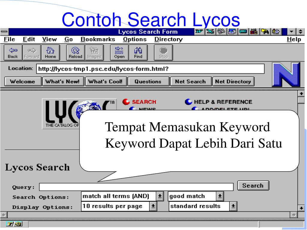 Contoh Search Lycos