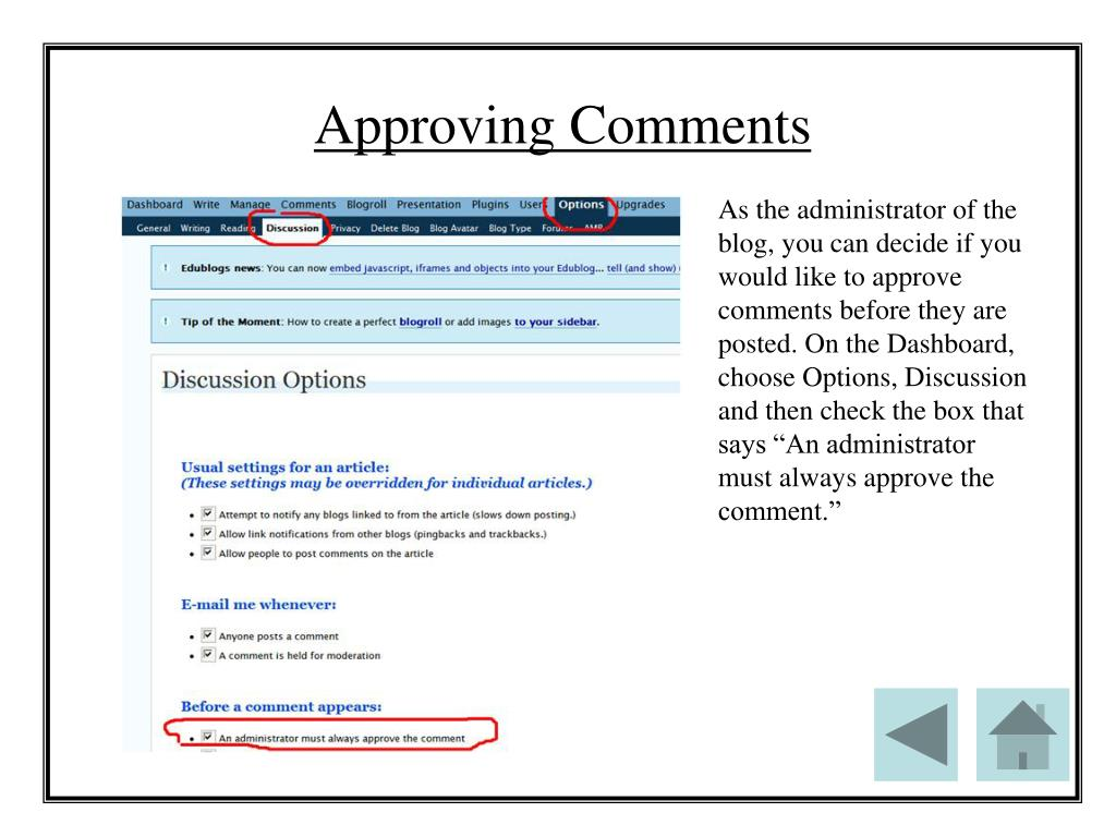 Approving Comments