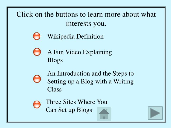 Click on the buttons to learn more about what interests you.