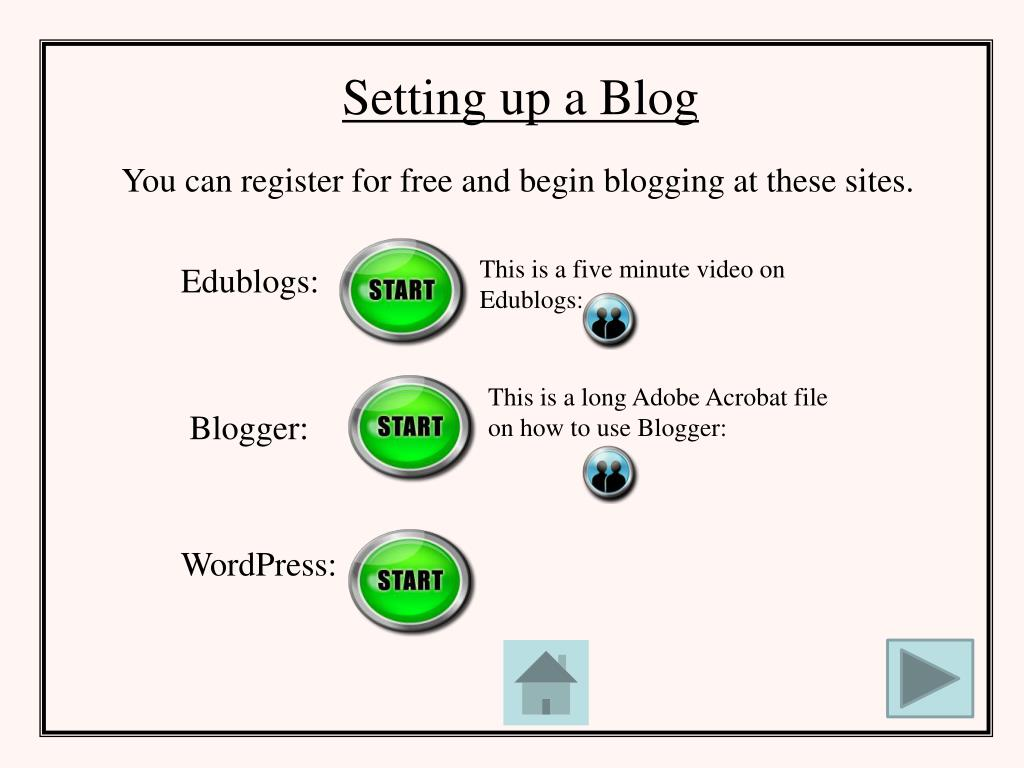 Setting up a Blog