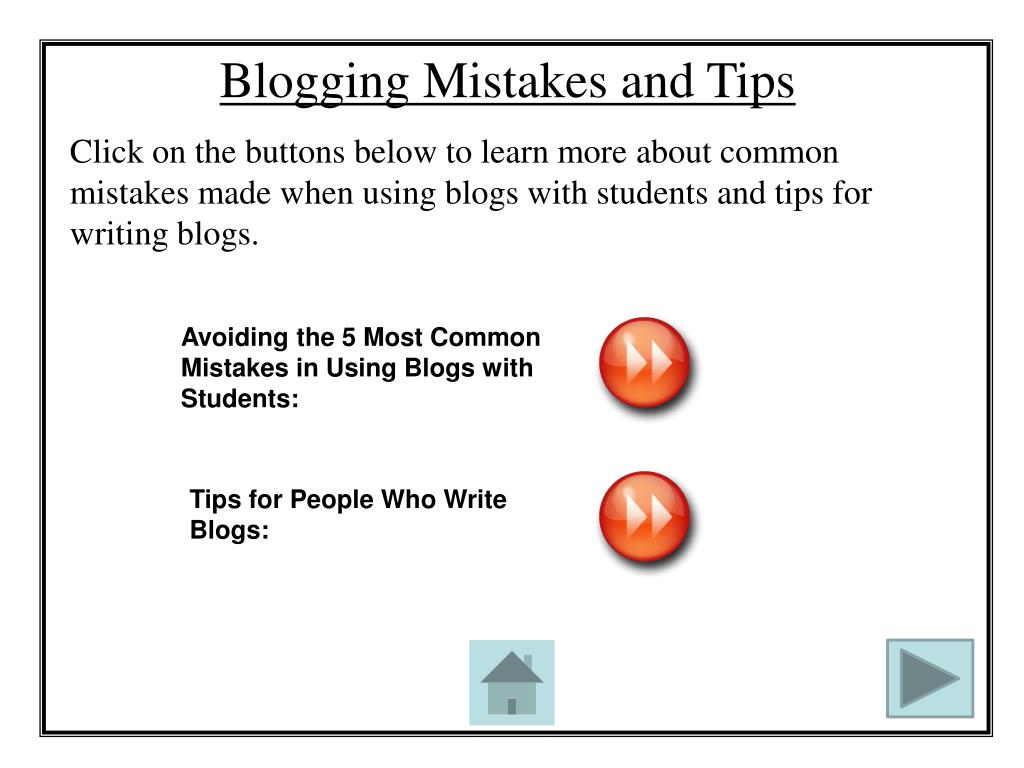 Blogging Mistakes and Tips