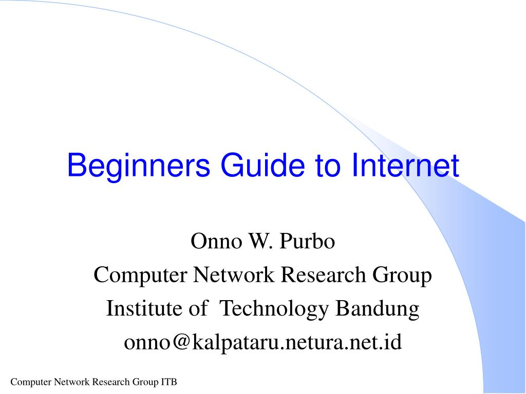 beginners guide to internet