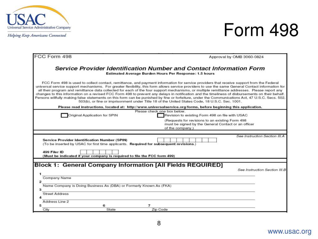Form 498