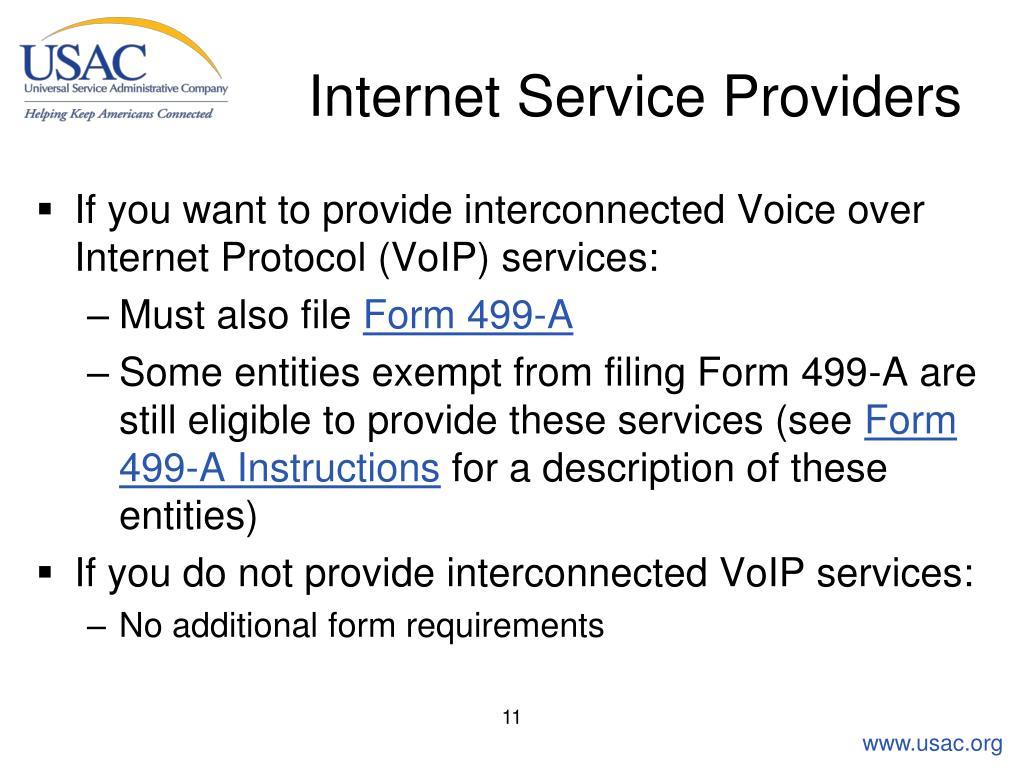 Internet Service Providers