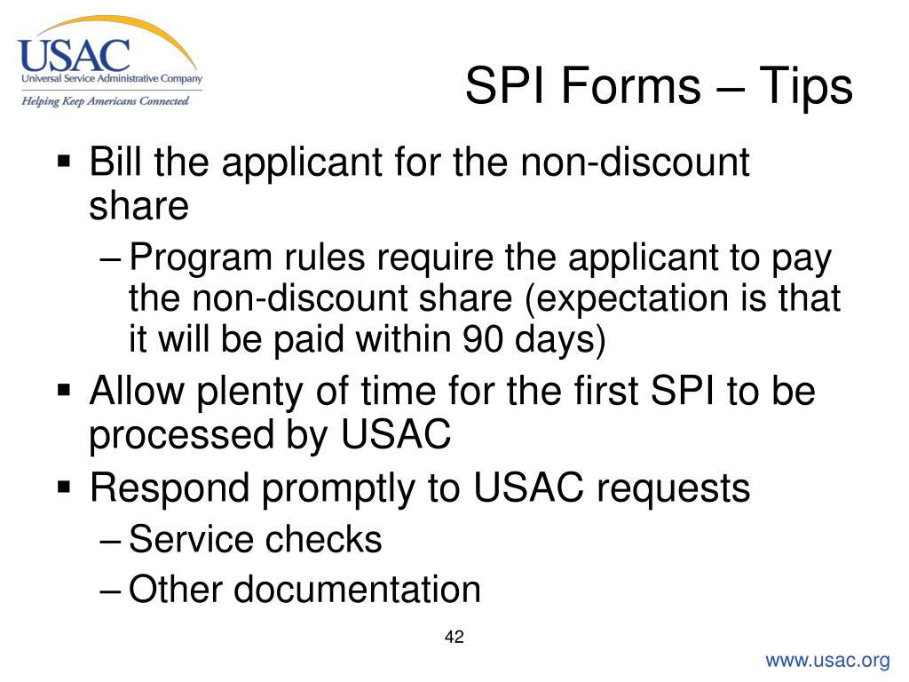 SPI Forms – Tips