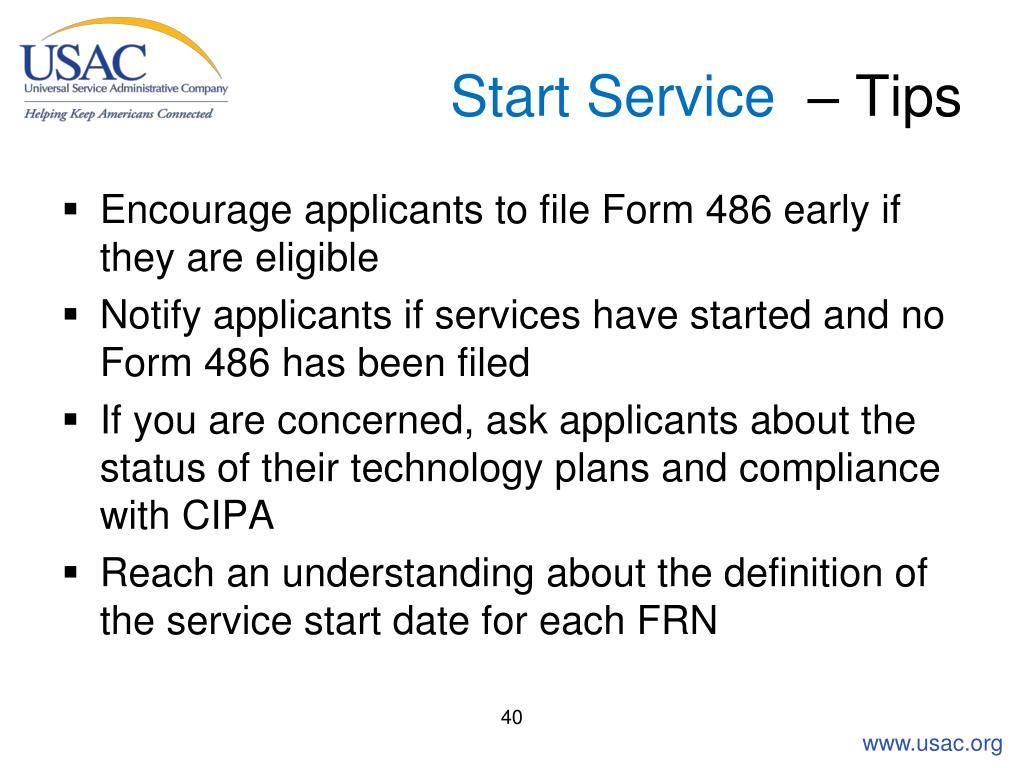 Start Service