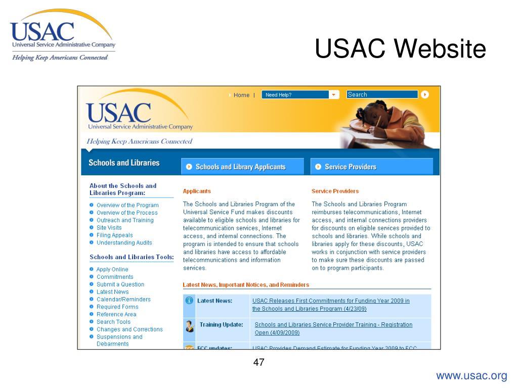 USAC Website