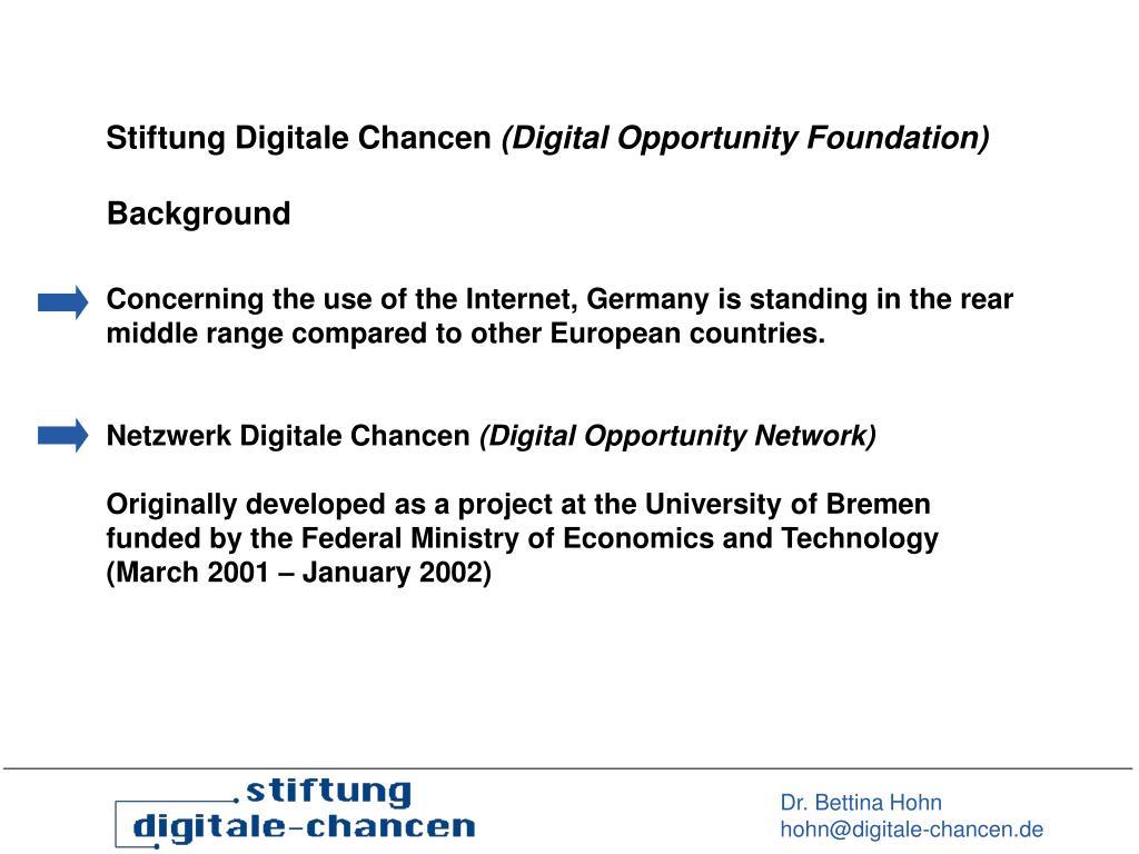 Stiftung Digitale Chancen