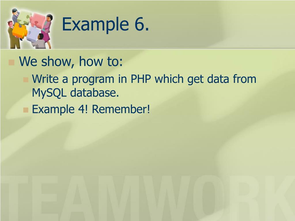 Example 6.