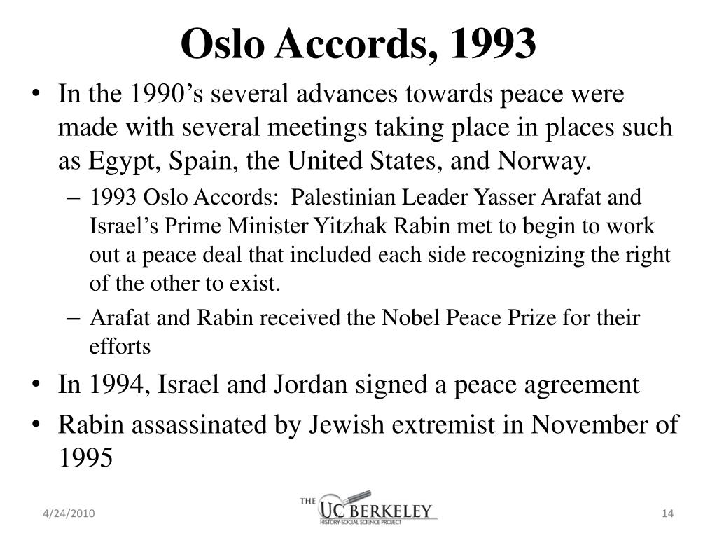 Oslo Accords, 1993