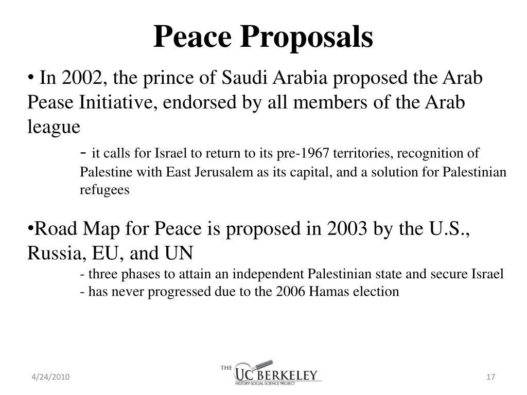 Peace Proposals
