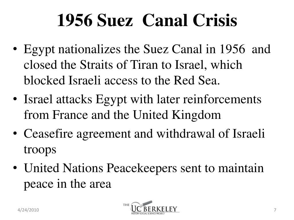 1956 Suez  Canal Crisis