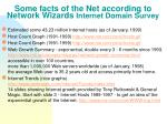 some facts of the net according to network wizards internet domain survey