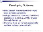 developing software51