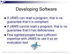 developing software52