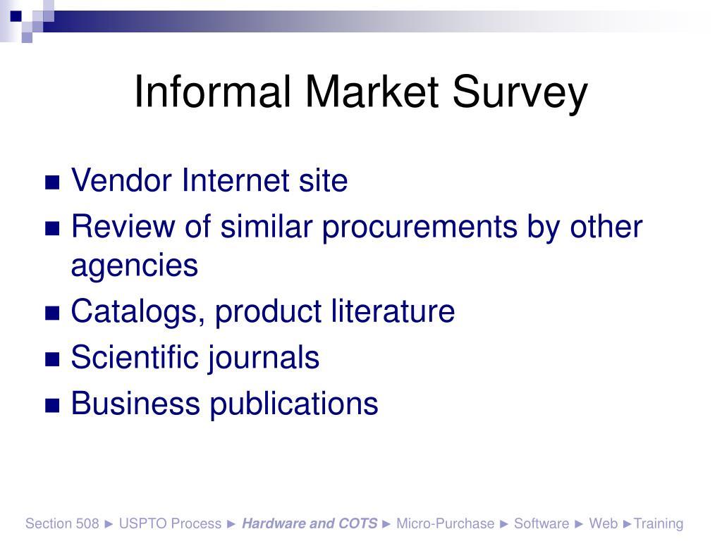 Informal Market Survey