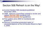 section 508 refresh is on the way