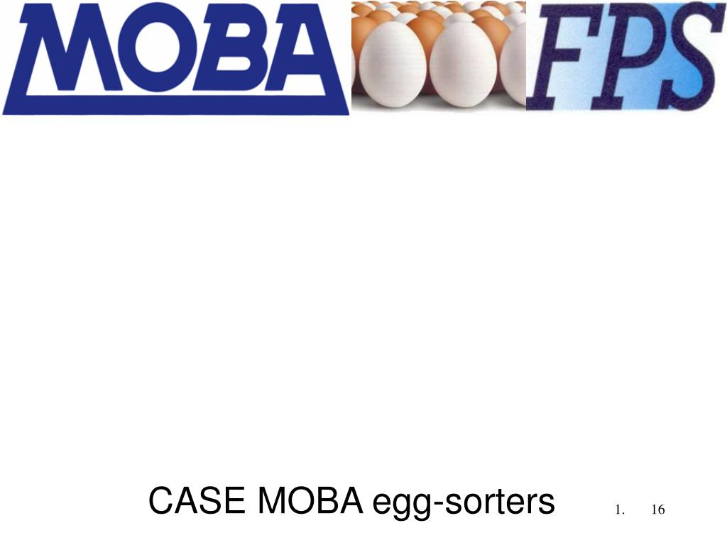 CASE MOBA egg-sorters