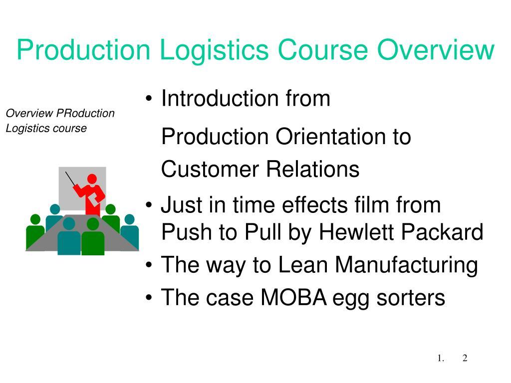 Production Logistics Course Overview