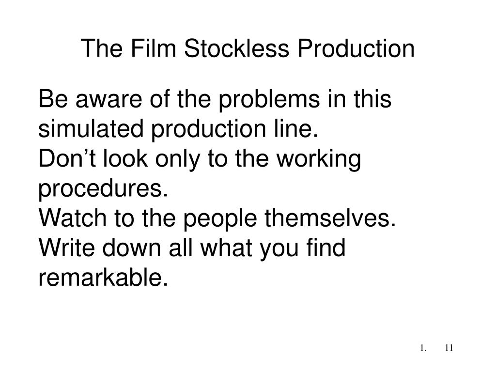 The Film Stockless Production