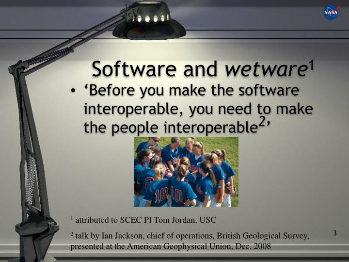 Software and wetware 1