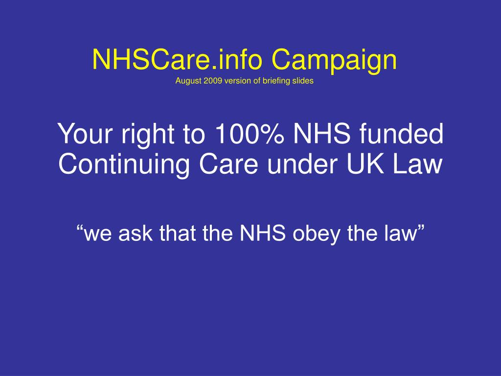 NHSCare.info Campaign