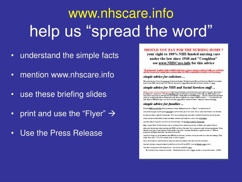 www.nhscare.info