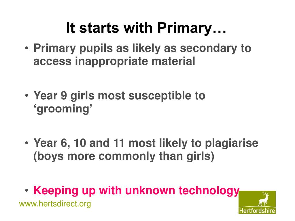 It starts with Primary…