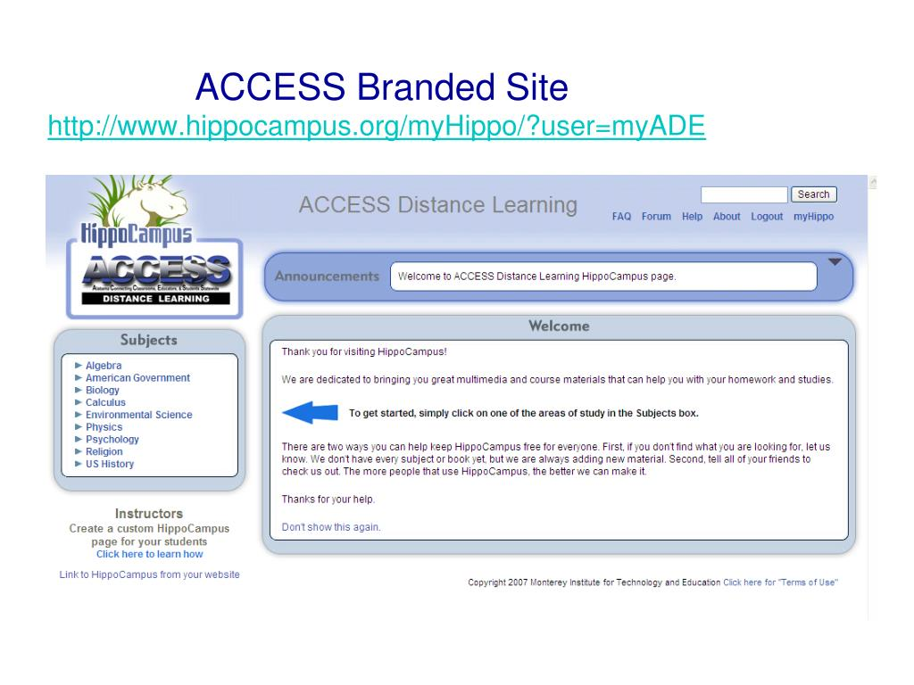 ACCESS Branded Site
