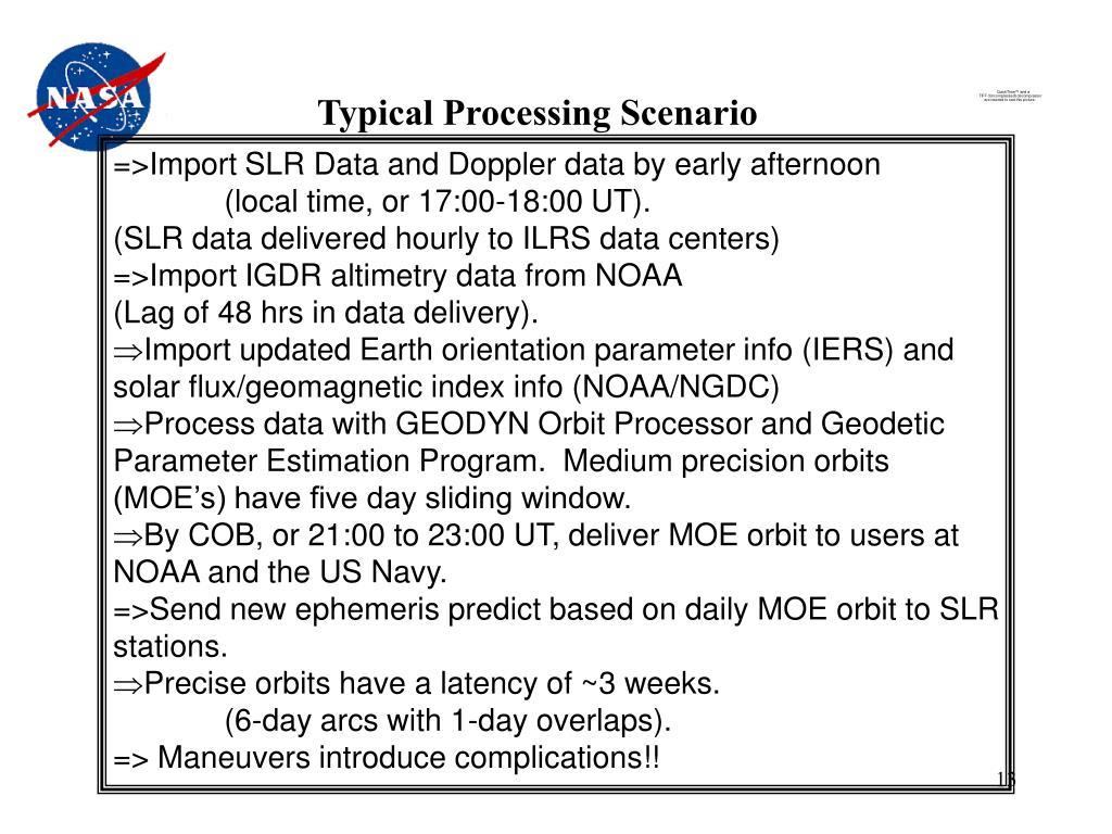 Typical Processing Scenario