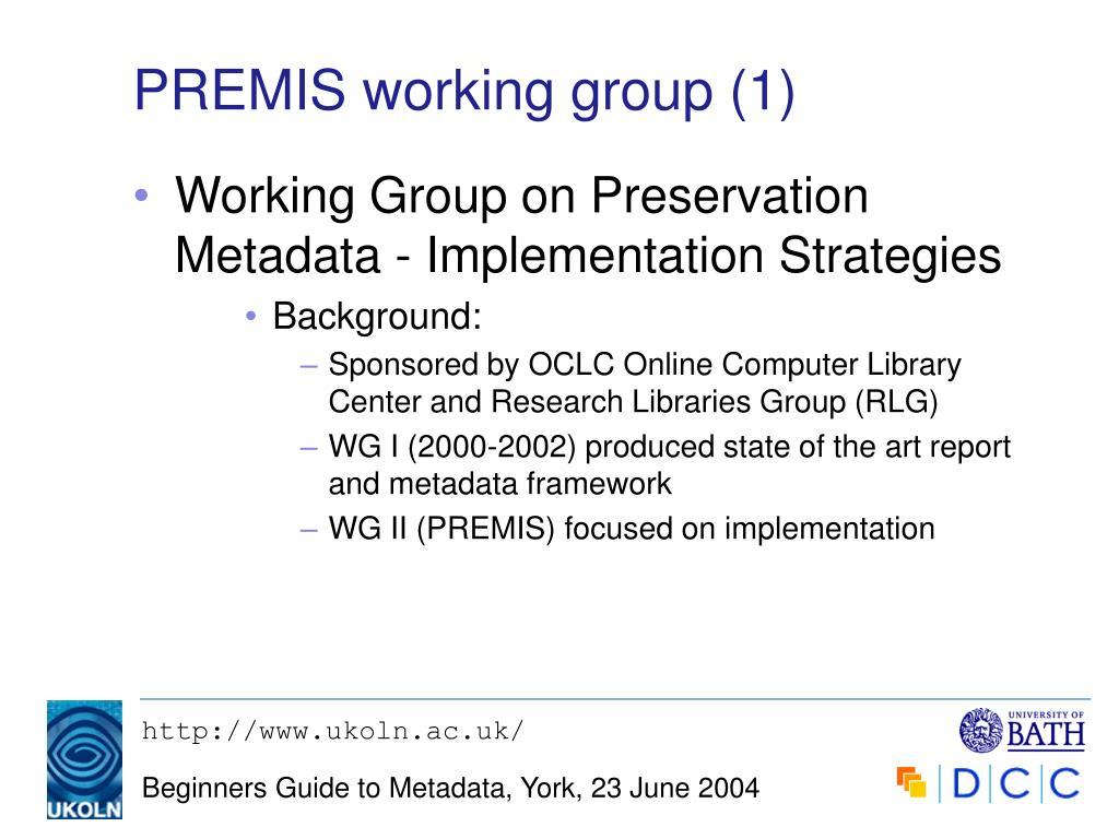 PREMIS working group (1)